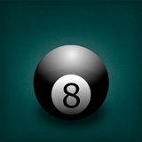 Billiard balls. American pool billiards balls on a white background royalty free illustration