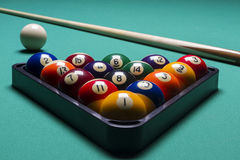 Billiard balls. Arranged billiard balls; macro.Billiard balls Royalty Free Stock Image