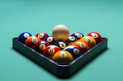 Billiard balls. Arranged billiard balls; macro;soft focus Royalty Free Stock Image