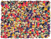 Billiard balls background Royalty Free Stock Photo