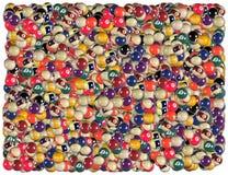 Billiard balls background vector illustration