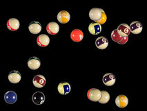 Billiard balls background Stock Images