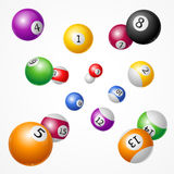 Billiard Balls Background. Vector Royalty Free Stock Photography