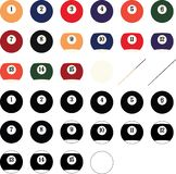 Billiard balls Vector, Eps, Logo, Icon, Silhouette Illustration by crafteroks for different uses. Visit my website at https://craf royalty free illustration