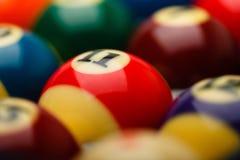 Billiard balls in box close up Royalty Free Stock Image