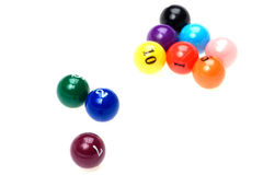 Billiard balls close up Stock Photo