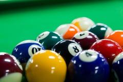 Billiard balls. Close-up of billiard balls stock images