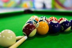 Billiard balls. Close-up of billiard balls stock image