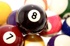 Billiard balls close up Royalty Free Stock Images