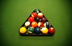 Billiard balls closeup Stock Photos
