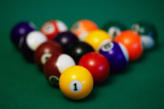 Billiard balls closeup Stock Photography