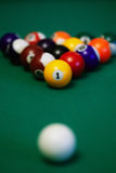 Billiard balls closeup Royalty Free Stock Images