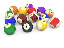 Billiard balls #8. Color balls with numbers for american billiard game Vector Illustration