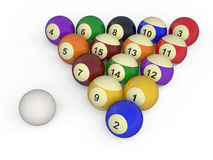 Billiard balls. Color balls with numbers for billiard game isolated on white background Royalty Free Illustration