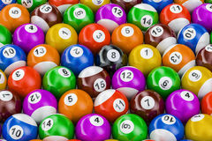Billiard balls colorful background Royalty Free Stock Image