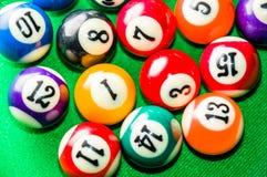 Billiard balls. Colorful billiard balls close up Stock Photos