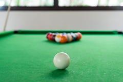 Billiard balls composition Royalty Free Stock Image