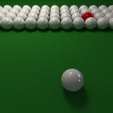 Billiard balls composition in white and red Stock Image