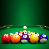 Billiard balls  with copy space Stock Photography
