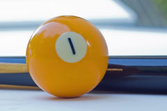 Billiard balls. Billiard-balls and cues, background Royalty Free Stock Images