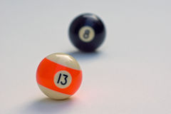 Billiard balls. Billiard-balls, Focus on the 13 Stock Photos
