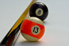 Billiard balls. Billiard-balls, Focus on the 13 Royalty Free Stock Photography