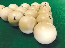 Billiard balls on the table royalty free stock photos