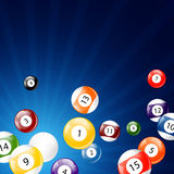 Billiard Balls. Illustration of a Background with Billiard Balls Stock Photo