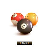 Billiard balls isolated Stock Image