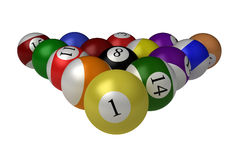 Billiard balls isolated on white Stock Image