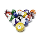 Billiard balls. Isolated on a white background. 3d render Stock Illustration