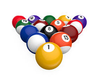 Billiard Balls. Isolated on white background. 3D render Vector Illustration