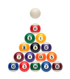 Billiard balls like a Christmas tree Royalty Free Stock Image
