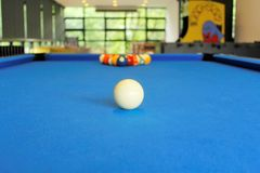 Billiard balls. In living room Royalty Free Stock Image