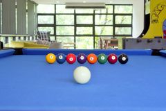 Billiard balls. In living room Stock Photography