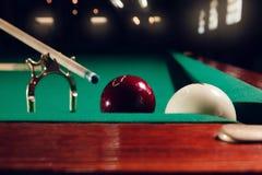 Billiard balls near pocket Stock Photos