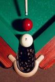 Billiard balls near pocket Stock Image