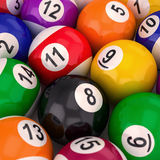 Billiard  balls with numbers Royalty Free Stock Photos