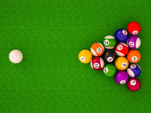 Billiard balls with numbers. On a white background Vector Illustration