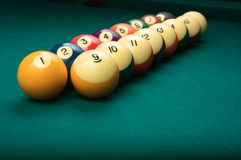 Billiard Balls in Numerical Order Stock Photography