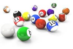 Billiard Balls Out Of American Billiards Stock Photo