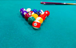 Billiard balls over table Stock Photography