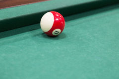 Billiard balls over table Royalty Free Stock Photo