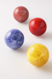 Billiard balls and planets. Close-up photography Stock Image