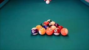 billiard balls stock footage
