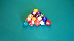 billiard balls stock video footage