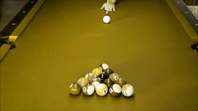 Billiard balls stock video