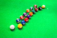 Billiard balls - pool Stock Image