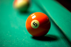 Billiard balls. In pool table Stock Image