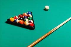 Billiard balls in a pool table. Stock Image